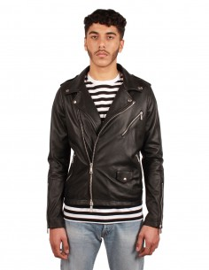 GIORGIO BRATO perfecto jacket in leather, in black