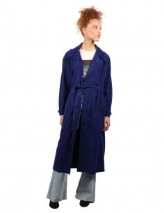 Trench-coat en cuir bleu Giorgio Brato pour Femme