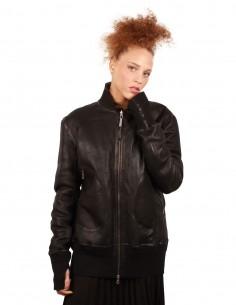 ISAAC SELLAM reversible jacket made in lambskin and Mongolian lamb fur