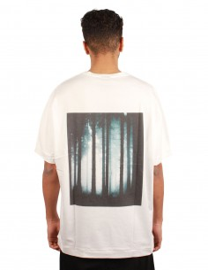 THOM KROM Tee-shirt blanc à impression forêt au dos