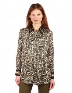 "EQUIPMENT ""BRADNER"" leopard printed shirt"