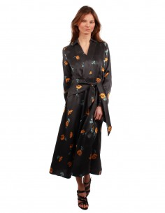 "EQUIPMENT ""Vivienne"" long dress with floral prints"