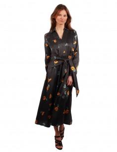 Robe longue en soie à imprimé Floral EQUIPMENT pour Femme