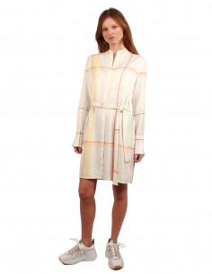 "EQUIPMENT ""Ravena"" shirt-dress with windowpane print"