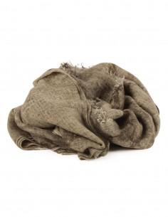 AVANT TOI cashmere shawl in khaki