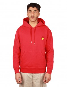 """AMI PARIS by Alexandre Mattiussi """"Smiley"""" red hoodie for men Spring-summer 2019"""