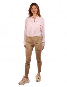 Pantalon cargo Skinny Beige JBRAND pour Femme