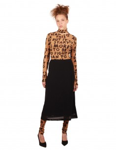 "MM6 ""Midi"" lined skirt in black"