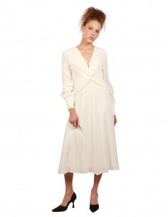 EQUIPMENT Faun long dress in cream shade