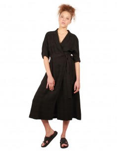 EQUIPMENT Anitone long dress in black