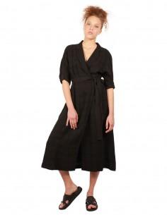 """Robe noire EQUIPMENT modèle """"Anitone"""" printemps-été 2019"""
