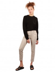 j brand Jean beige coupe cropped