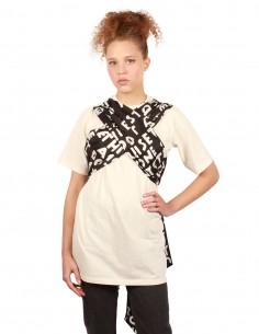 MM6 Scarf tie jersey tee-shirt