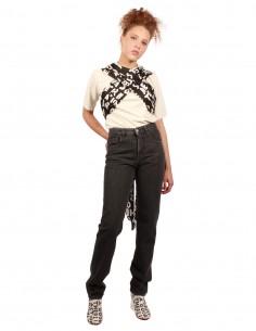 MM6 High waist denim jeans in grey