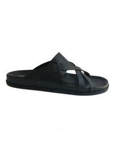 barbara bui Flat sandals in black leather