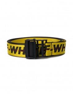 off whiteCeinture jaune et noir avec logo