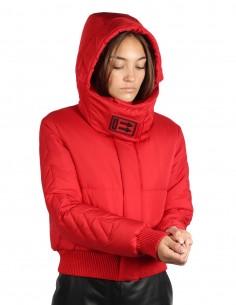 Doudoune off-white pour femme doudoune rouge courte et à capuche