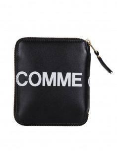Porte-feuille zippé avec logo - Noir COMME DES GARCONS WALLET