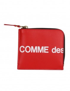 COMME DES GARCONS WALLET small red zipped wallet