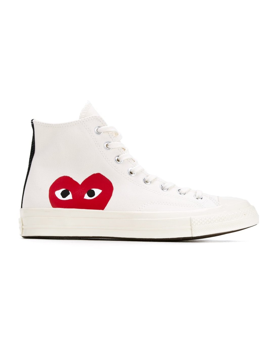 Off-white high top mono-heart COMME DES GARÇONS PLAY x ...