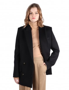 Manteau croisé en laine barbara bui noir