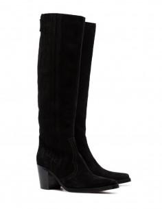 Bottes Western GANNI en cuir noir
