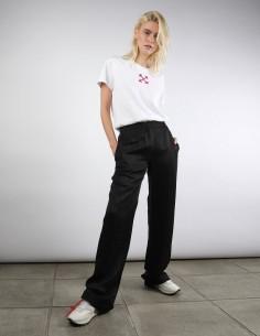 off white pantalon pyjama noir