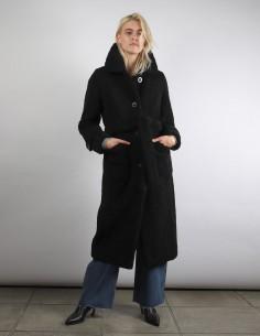 Manteau STAND Lottie noir façon Peignoir Fausse Fourrure