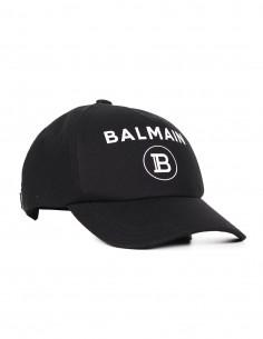 """Casquette noire avec logo """"Balmain"""""""