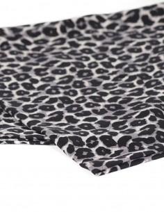 Foulard Leopard en laine et soie