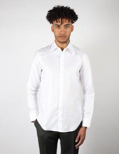 Chemise maison margiela homme classique blanche motif chevron
