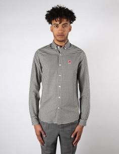 Chemise à petits carreaux pour homme