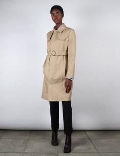 Manteau trench beige cintré pour femme MAISON MARGIELA