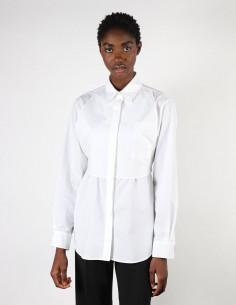 Chemise blanche pour femme avec plastron à nouer