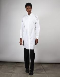 Robe-Chemise blanche avec plastron à nouer pour femme margiela MM6