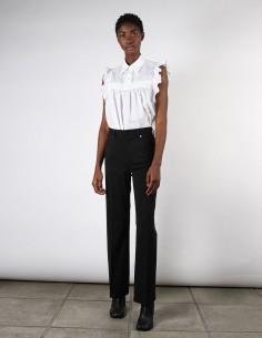Pantalon 5-poches noir en laine vierge margiela MM6