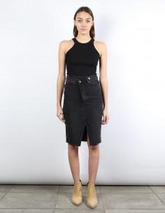 ANDY grey denim skirt BOYISH
