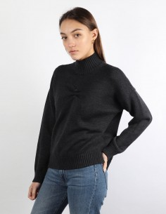 GANNI grey sweater piercing woman