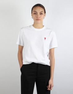 ami white tee small logo woman