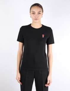 ami t-shirt noir petit logo femme