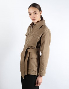 AMI brown work-jacket woman