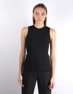 AMI black ribbed vest sweater woman