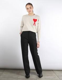 AMI pantalon flare noir