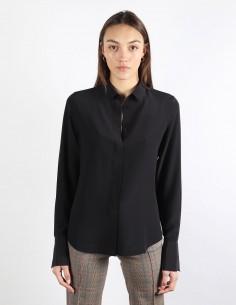 BUI black shirt in silk