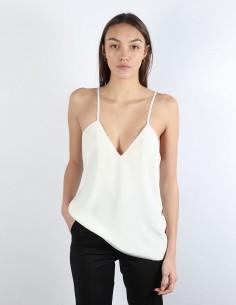 BUI white camisole in silk