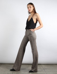 BUI pantalon flare à carreaux