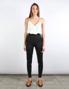 BUI black cigarette pants ankle zip
