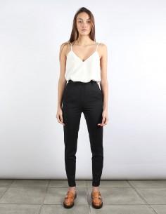 BUI pantalon cigarette noir zip chevilles