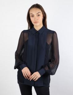 BUI bi material navy blouse