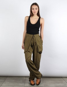 BUI high wasted pleated khaki pants